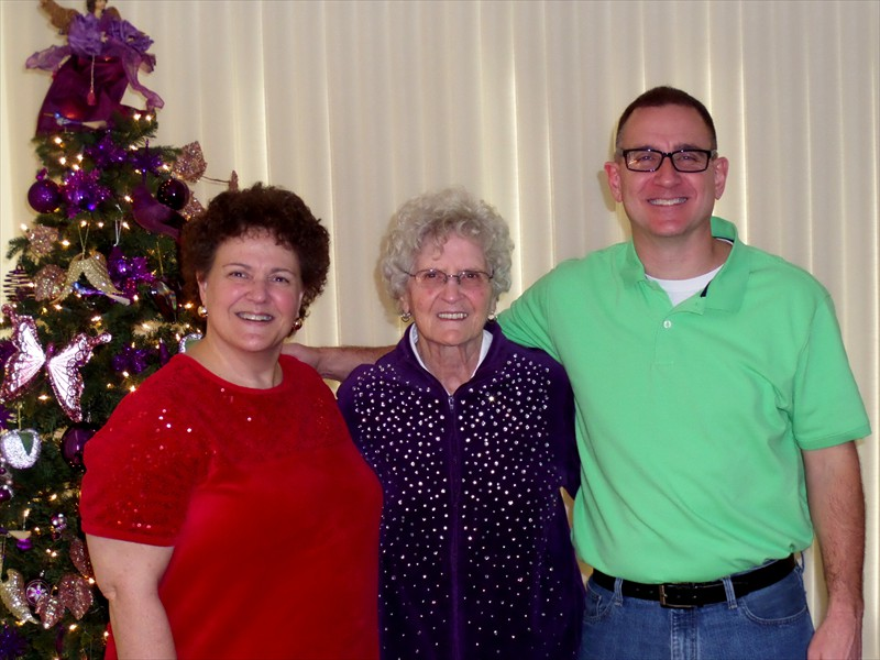 Pam, Mother Joan and Phil