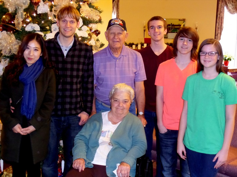Granddad and Ann with the Grand Kids